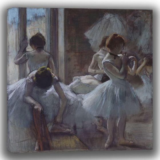 Degas, Edgar: Dancers. Fine Art Canvas (003744)